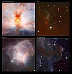 Details of the VISTA Flame Nebula image