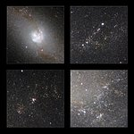 Highlights of the HAWK-I infrared image of Messier 83