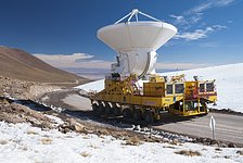 First European ALMA antenna on its way to Chajnantor