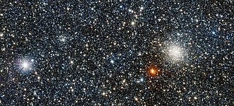 VISTA view of the newly discovered globular cluster VVV CL001 and its brighter companion