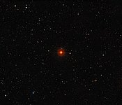 Wide-field view of the sky around the red giant star R Sculptoris