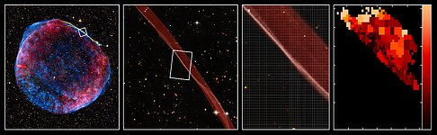 VLT/VIMOS observations of the shock front in the remnant of the supernova SN 1006