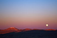 Moonrise over Cerro Armazones