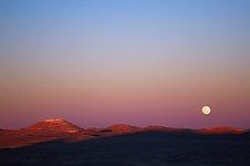 Moonrise over Cerro Armazones