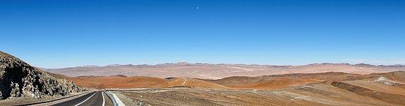 Panoramic view of Cerro Armazones from Paranal