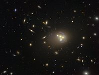 Hubble image of the galaxy cluster Abell 3827