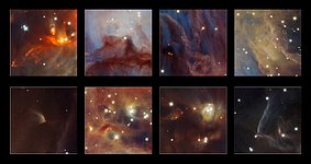 Highlights from a new infrared image of the Orion Nebula