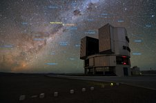 The Very Large Telescope and the star system Alpha Centauri