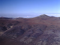 Aerial view of Paranal and Atacama desert