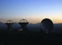 ALMA Antennas at Sunset