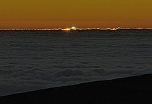 A blue-green flash at Paranal Observatory
