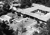 The ESO Guesthouse in Santiago from the air