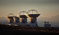 ALMA antennas at OSF
