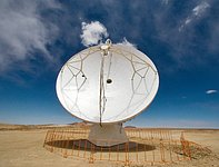 An ALMA antenna on Chajnantor
