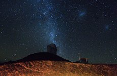 The ESO 3.6-metre telescope at La Silla at night