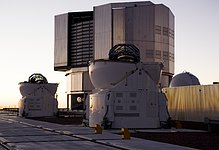 Two Auxiliary Telescopes and one Unit Telescope