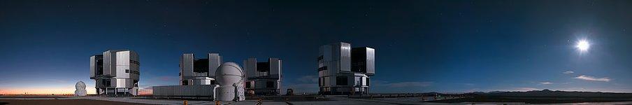 Moonlit Paranal