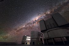 The Milky Way behind the VLT