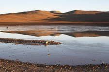 Icy lagoon near Paranal