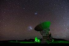 Magellanic Clouds arch over ALMA