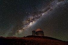 Milky Way lighting the ESO 3.6-metre telescope