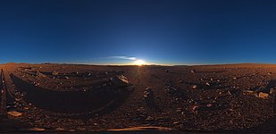 Sunset with Paranal on the distance