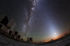 Zodiacal Glow Lightens Paranal Sky