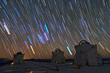 Star Trails over the VLT in Paranal