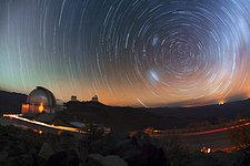 La Silla star trails