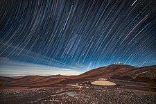 Star Trails Over La Residencia