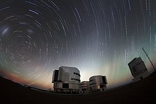 Twilight ends at Paranal