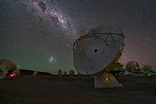 Antenna under galaxies