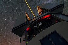 Laser of the VLT in UHD