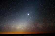 Moon, Venus and the Milky Way
