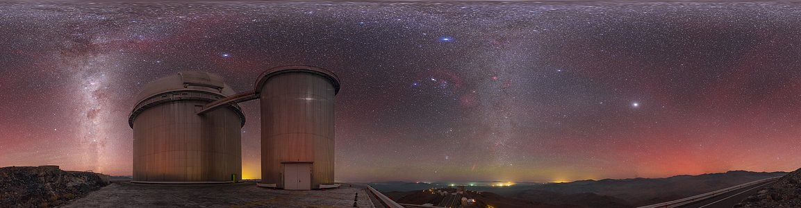 Airglow above the ESO 3.6-metre telescope