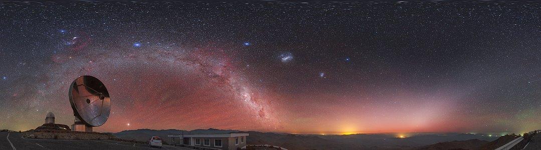 View above the Swedish/ESO Submillimetre Telescope