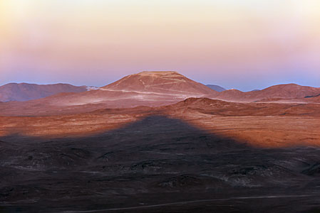 Cerro Armazones and the shadow of Paranal
