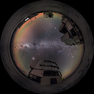A fish-eye view of the VLT