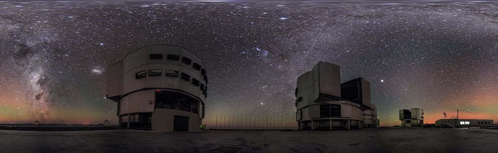 A panorama view of the VLT