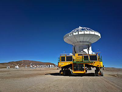 ALMA Transporter with antenna