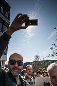 Solar eclipse 2015 at ESO HQ