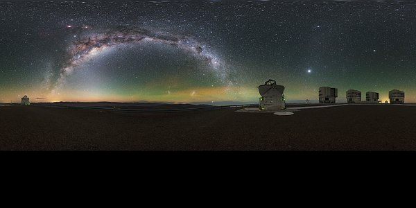 Milky Way glow at Paranal