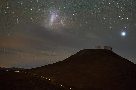Magellanic Cloud over Paranal