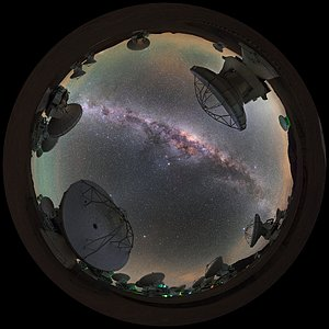Antennas towards the Milky Way