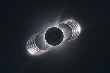 Going through the eclipse