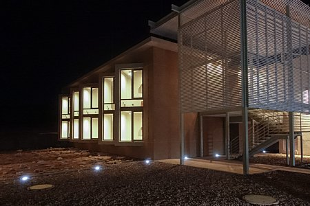 ALMA Residencia — dormitory at night