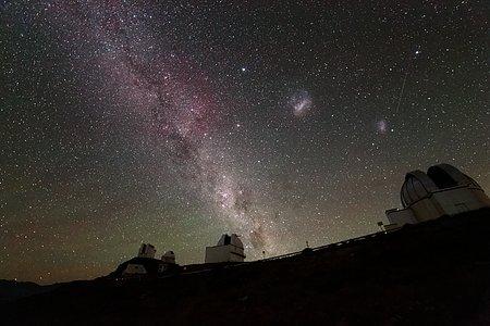 Three galaxies at once