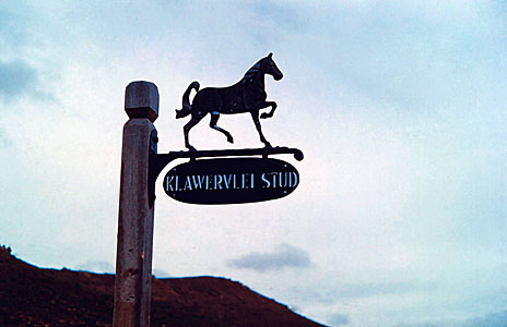 Signpost to the Klaverlei Farm