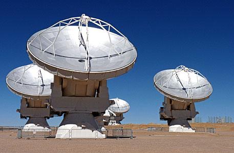 Four of the Stunning ALMA Antennae