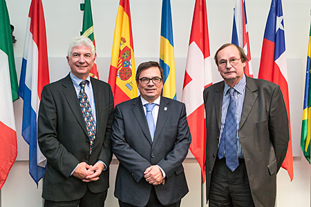 Three generations of ESO Council presidents